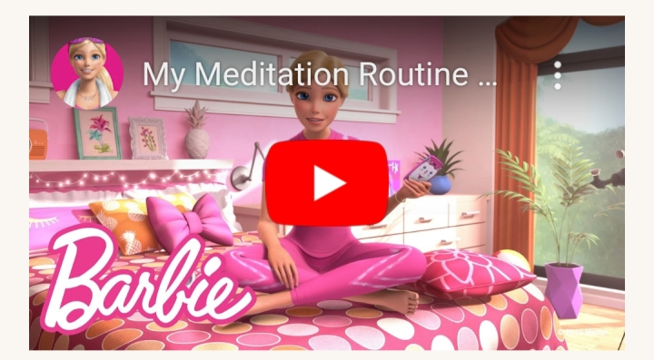 Meditating with Barbie